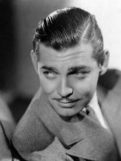 The King of Hollywood: 50 Dashing Photos of Clark Gable in the Early Hollywood Actor, Golden Age Of Hollywood, Classic Hollywood, Old Hollywood, Hollywood Glamour, Clark Gable, Easy Hair Cuts, Trendy Mens Haircuts, Classic Films