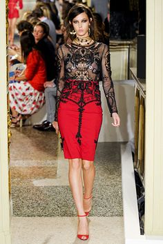 Red skirt - Emilio Pucci Spring 2012 RTW