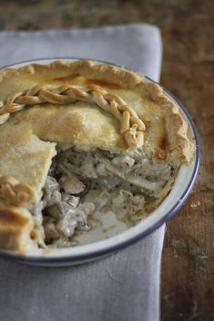 A good pie can be hard to beat as a great family meal. This deep filled Chicken and Mushroom pie is quick to make and uses up leftover cooked chicken.