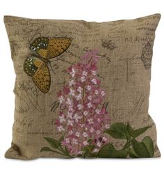 Accent Linen Pillow~ $52.00  The accent pillow with garden design will best match your outdoor garden furniture