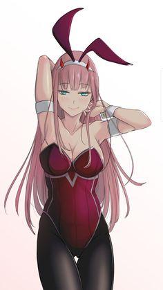 Bunny girl / Zero Two Fanart Manga, Chica Anime Manga, Art Anime, Thicc Anime, Fanarts Anime, Anime Art Girl, Manga Girl, Anime Girls, Anime Girl Hot