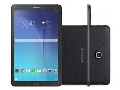 "Tablet Samsung Galaxy Tab E 8GB Tela 9,6"" Wi-Fi - Android 4.4 Quad-Core Câm. 5MP + Frontal 2MP GPS"