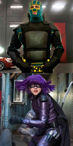 Kick-Ass and Hit Girl