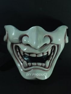 Ivory Japanese Hannya Evil Airsoft Mask and Prop Mask by Airsoft mask. $69.00. ABOUT THE MASK The design for this mask is made by conveniently integrating art and fighting sports to find a perfect answer for your fighting style in every battleground. Most importantly, it can protect your face and eyes from tiny BB gun plastic bullets. It is also resistant to the impact of hockey ball. Four layers of fiberglass resin reinforced by another two layers of specialty glass...
