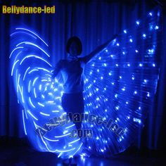 LED isis wings 182 lights rechargeable belly dance light up costume dancer stick | Clothing, Shoes & Accessories, Dancewear, Adult Dancewear | eBay!
