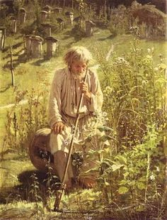 Bee-Keeper ~ by Ivan Kramskoy, 1872. Oil on canvas. The Tretyakov Gallery, Moscow, Russia