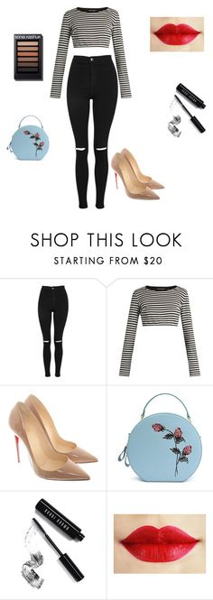 """Untitled #132"" by isamacario ❤ liked on Polyvore featuring Topshop, Dolce&Gabbana, Christian Louboutin and Bobbi Brown Cosmetics"