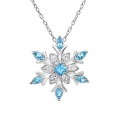 Snowflake Pendant Necklace #Christmas #Present