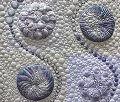 This #quilting is the work of the talented Sheena Norquay - it looks like some kind of sea creature to me!
