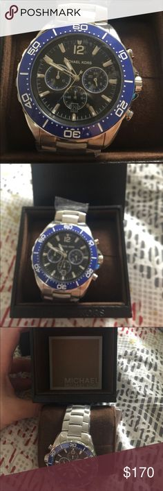 NWT Michael Kors men's watch Nice brand new men's watch plastic still on comes with original box just needs a battery! MICHAEL Michael Kors Accessories Watches