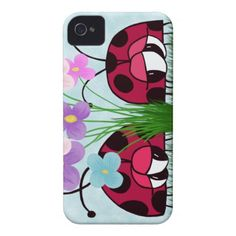 Two Ladybugs ~ Love At First Sight!  IPhone 4 Barely There Case.  $39.95