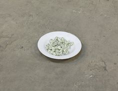 Etti Abergel, Untitled, plate and dice Dice, Plates, Artists, Licence Plates, Dishes, Griddles, Cubes, Dish, Artist