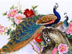 「孔雀 日本画」の画像検索結果