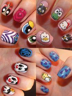Nail Art 2012: Cartoon Characters
