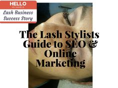 Join the Lash Hustlers' Society...the only business & marketing resource for Lash Extension Stylists! Visit www.lashbusinesssuccess.com to join, and learn when it launches!
