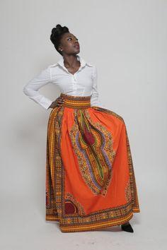 Dashiki Maxi Skirt by AnnaTeiko on Etsy