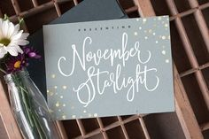 November Starlight Font by Sam Parrett on @creativemarket