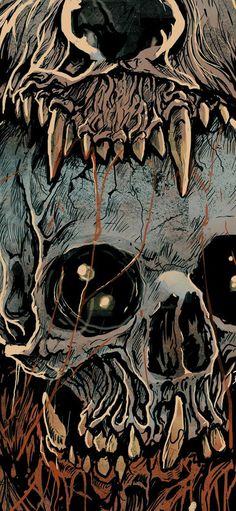 Grindesign Más Skull Illustration, Art Graphique, Skull And Bones, Horror Art, Skull Art, Macabre, Dark Art, Fantasy Art, Concept Art