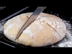I don& buy bread anymore! I cook it twice a week. Bread Recipes, Cooking Recipes, Burger Buns, Pan Bread, How To Make Bread, Sin Gluten, Food Videos, Bakery, Good Food