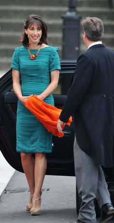 Samantha Cameron, wife of British Prime Minister David Cameron; wedding of Prince William of Wales and ms. Catherine Middleton April 29, 2011