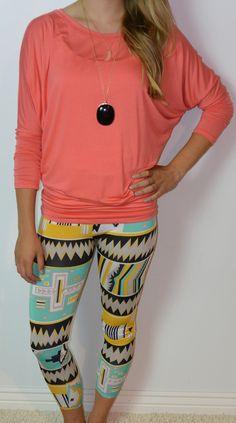 Tribal print leggings!!! Love the top too!! I need this whole outfit<3