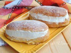 Maritozzi con la panna ricetta romana per dolce lievitato soffice e goloso farcito con panna fresca montata. Maritozzi ricetta da fare con Bimby e senza