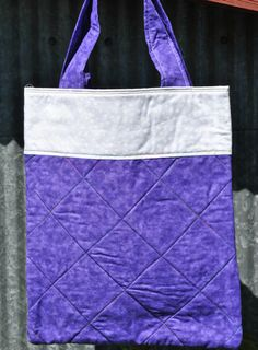 Purple Tote Bag by PolkaDotPouches on Etsy, $25.00 Small Tote Bags, Pouches, Polka Dots, Reusable Tote Bags, Trending Outfits, Unique Jewelry, Purple, Handmade Gifts, Pattern