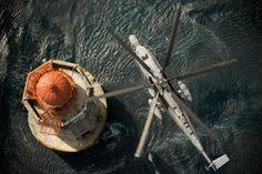 Relève de gardien par hélicoptère Marine nationale