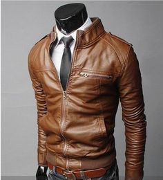 Mens Red Orange Gray iker Leather Jacket | Products | Pinterest ...