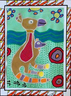 Dot painting - Australian Book Illustration
