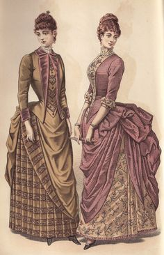 Love the dress on the right.  Fashion Plate, circa 1887