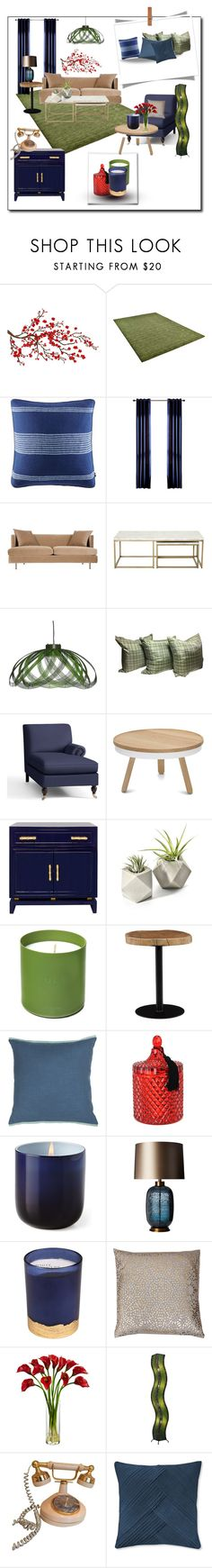 """""""Untitled #1002"""" by confusioninme ❤ liked on Polyvore featuring interior, interiors, interior design, home, home decor, interior decorating, Brewster Home Fashions, Tommy Hilfiger, Pottery Barn and Culti"""