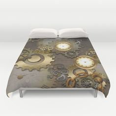 Abstract mechanical design Duvet Cover by Home Decoration, Mechanical Design, Duvet Covers, Ottoman, Queen, Chair, Abstract, Furniture, Summary