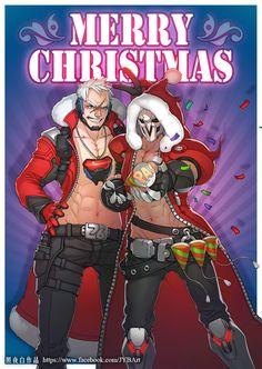 2016 Overwatch Christmas Card, JYB Art 【照夜白】 on ArtStation at https://www.artstation.com/artwork/knV1x