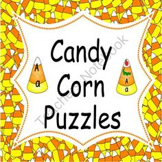 Candy Corn Alphabet  Puzzles from My Little Lighthouse on TeachersNotebook.com -  (10 pages)  - This product contains two different styles of alphabet puzzles.