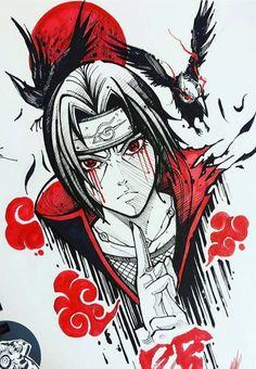 Desenho do Itachi Anime naruto Naruto Sketch, Naruto Drawings, Anime Drawings Sketches, Anime Sketch, Cartoon Drawings, Cool Drawings, Drawing Faces, Nose Drawing, Realistic Drawings