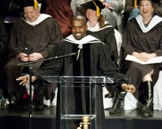 The most inspiring celeb commencement speeches: Kanye West.