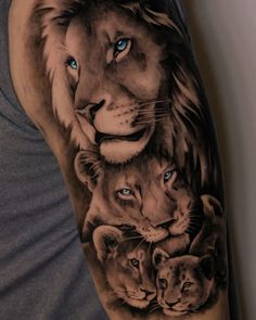 Female Lion Tattoo, Lion Forearm Tattoos, Lion Head Tattoos, Mens Lion Tattoo, Lion Tattoo On Back, Animal Sleeve Tattoo, Lion Tattoo Sleeves, Best Sleeve Tattoos, Animal Tattoos