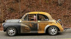 all Miata underneath- steering, suspension, engine, trans. 1951 Morris up top Love Photos, Car Photos, Morris Minor, Garage Makeover, Small Cars, City Photography, Retro Cars, Mk1, Custom Cars