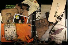 Halloween Hand Mixed Media Book