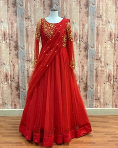 Baby Tumblr, Half Saree Designs, Long Frock, Indian Gowns Dresses, Frocks, How To Wear, Fashion, Moda, Fashion Styles