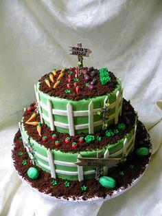 Garden Birthday cake by Wild Orchid Baking Co., via Flickr