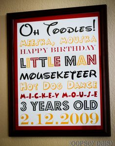 Cute Birthday Party theme Mickey Mouse