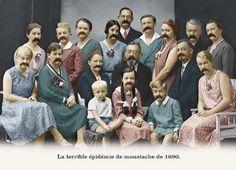 la terrible épidémie de moustache de 1890