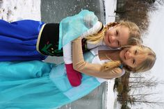 "DIY Anna and Elsa Costumes from Frozen | LifeasMOM.com - Create this simple and inexpensive costume for your daughter to play ""Anna"" from the Disney film, Frozen."
