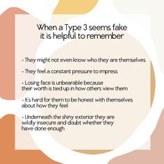 In keeping with our theme of dealing with Numbers that rub you the wrong way, here are some helpful things to remember when trying to live with and LOVE a wonderful Type 3 . Enneagram Type 3, Mental And Emotional Health, Grow Together, Personality Types, Personality Psychology, Queen Quotes, Learn To Love, Mbti, Understanding Yourself