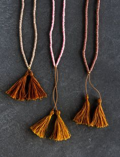 Beads + Tassels Necklaces Kit