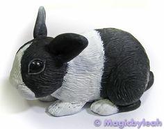 Polymer Clay Dutch Bunny third coat