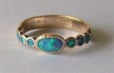 Pebbles Designer Jewellery - St Ives, Cornwall. Man made opal ring by Talma Keshet