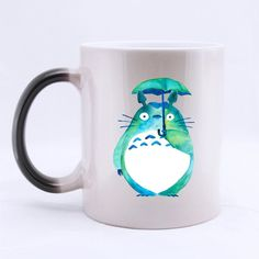 Christmas Halloween Gifts Personalised My Neighbor Totoro Design Heat Sensitive Color-Changing Black/White 11 oz Ceramic Custom Morphing Coffee/Tea Mugs *** Trust me, this is great! Click the image. : Cat mug